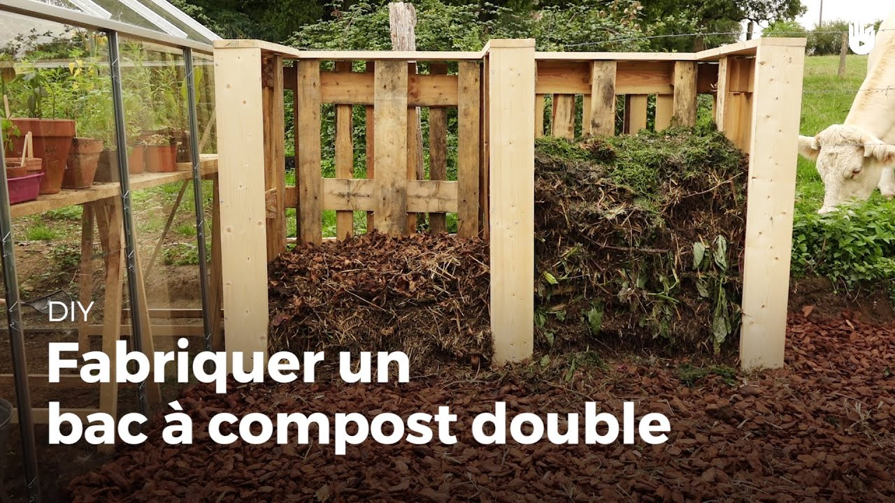 fabriquer un bac compost double youtube. Black Bedroom Furniture Sets. Home Design Ideas