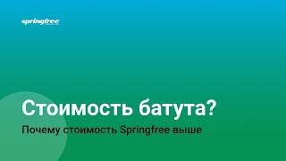 Стоимость батута Springfree. Из чего складывается стоимость батута Спрингфри с защитной сеткой.(, 2016-04-17T20:11:51.000Z)