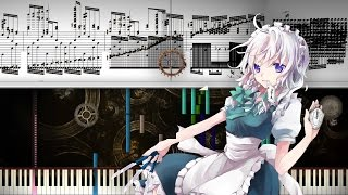 Black Score: Touhou 6 - Lunar Clock ~ Luna Dial / 冥土革命サクヤ Million Knife | 41,000+ Notes | Black MIDI