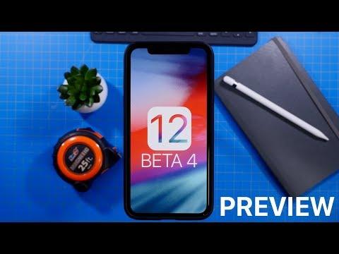 iOS 12 Beta 4 Preview