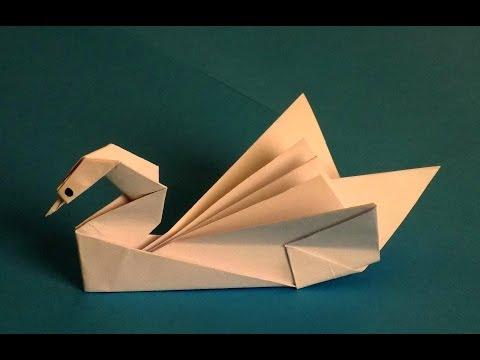 видео: оригами лебедь из бумаги своими руками   swan of paper
