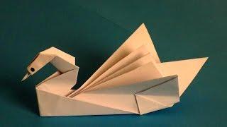 оригами лебедь из бумаги своими руками | Swan of paper
