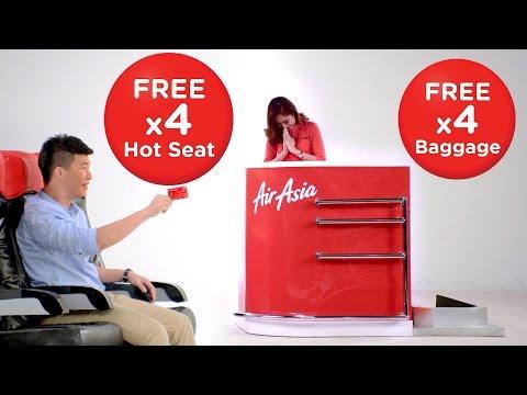 แอร์เอเชียจัดหนัก ให้เลือกที่นั่ง Hot Seat และน้ำหนักกระเป๋าฟรี
