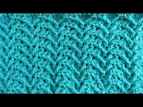 Wishbone Crochet Stitch - Right Handed Crochet Tutorial