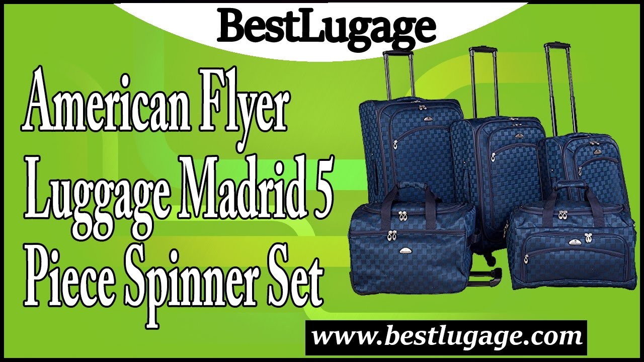 ce85b3ed1 American Flyer Luggage Madrid 5 Piece Spinner Set Review - YouTube