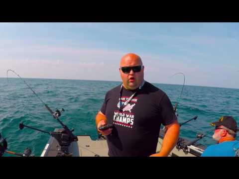 Saint Joe Lake Michigan salmon fishing July 4th 2017