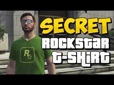 GTA 5 Online - How to Unlock Rockstar T-shirt (Secret T-Shirt)