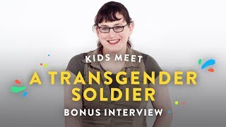 Kids Meet A Transgender Soldier (Bonus Interview) | Kids Meet | Hiho Kids