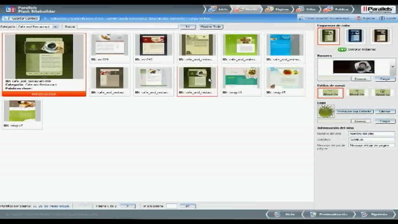 Video del Uso de SiteBuilder parte 1 - YouTube