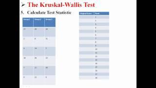 The Kruskal-Wallis Test