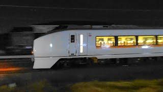 〔4K UHD//sp〕JR東日本・高崎線(八高線):北藤岡駅、651系/特急『スワローあかぎ号』走行シーン。