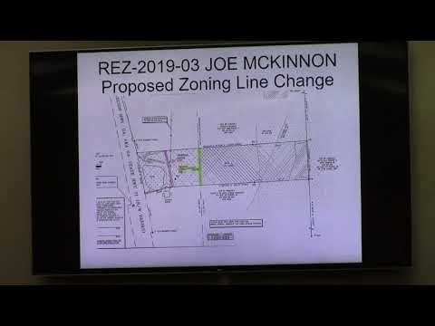 REZ-2019-03  McKinnon 2781 Madison HWY 7.01 acres from C-G, E-A, and CON to same