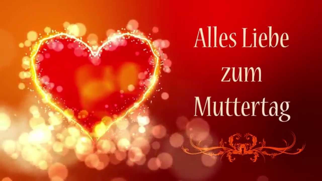 Alles Liebe Zum Muttertag Motion Graphics Herz Floral