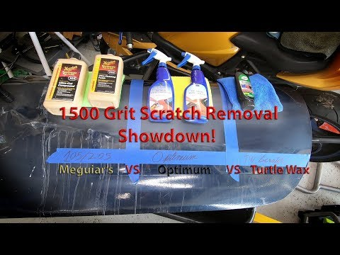 1500 Grit Removal Showdown! Meguiars VS Optimum Vs Turtle Wax
