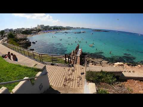 Walking tour in Protaras Beach Cyprus - Walking 4k 6o fps GoPro 9 Walkingvideo part 2.