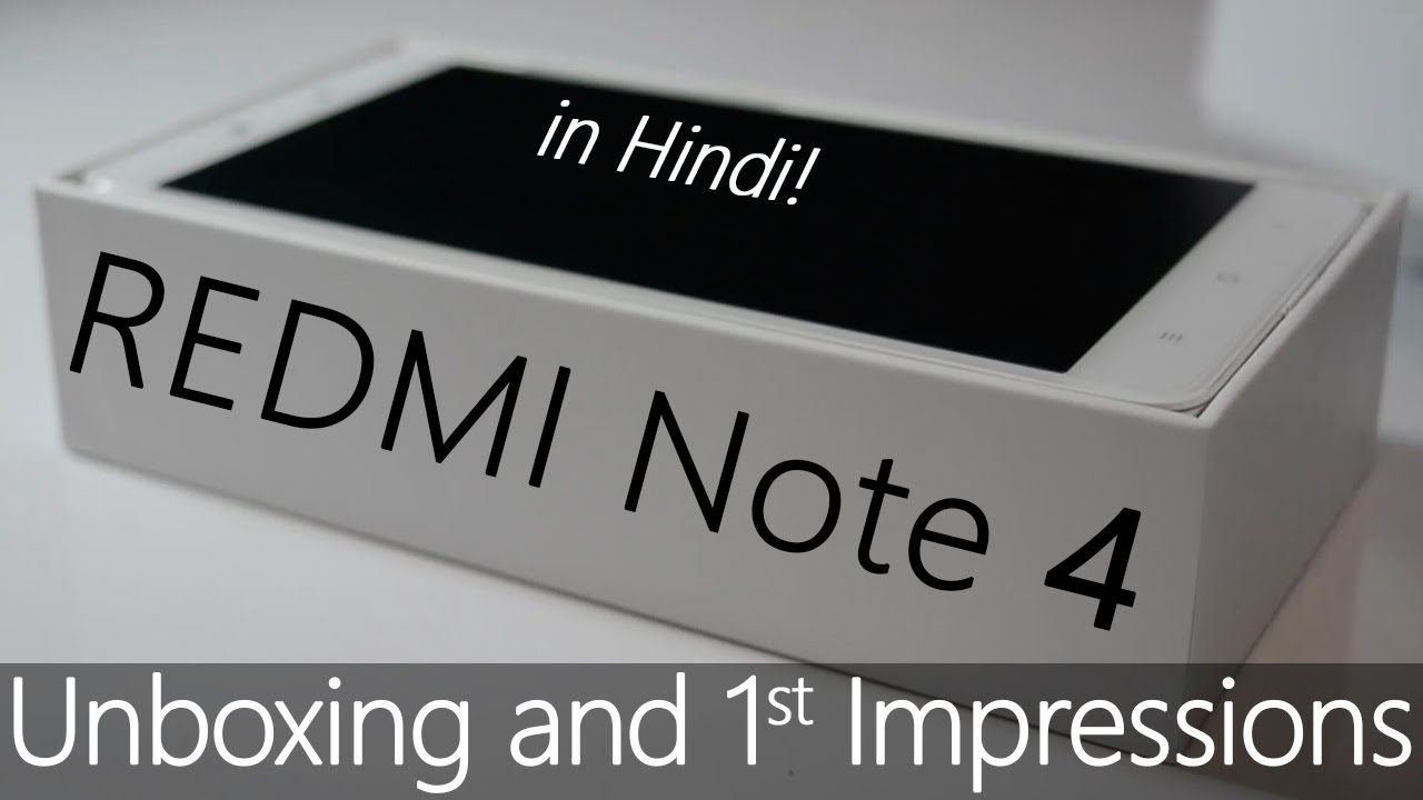 """Redmi Note 4 Unboxing: Redmi Note 4 """"Cinematic"""" Unboxing In """"1 Min"""" (Gold 3GB"""