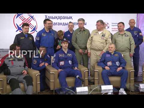 Kazakhstan: Soyuz astronauts arrive in Karaganda after over six months on ISS