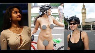 World Naked Bike Ride   Meenal Jain nude cycling   First Indian Girl