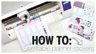 How to Print & Cut Printable Stickers | Stickers on a Budget!