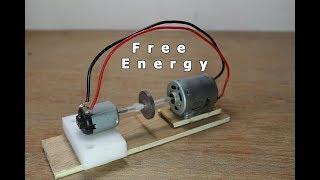كيفية جعل الطاقة الحرة مولد باستخدام نموذج بسيط من موتور DC