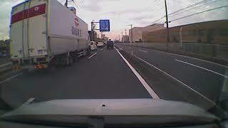 国道16号を走っていたら目の前に帝国重工のトラックが! ちょっと興奮...