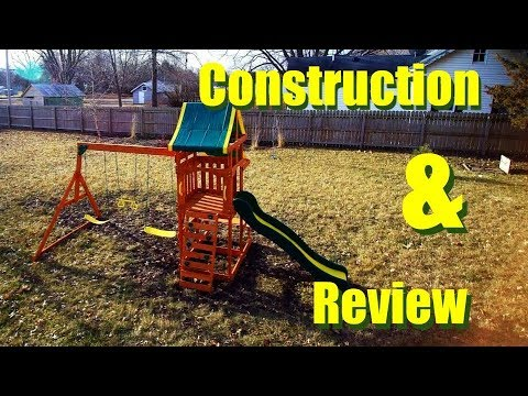 Backyard Discovery Tucson Cedar Wooden Swing Set Construction Review