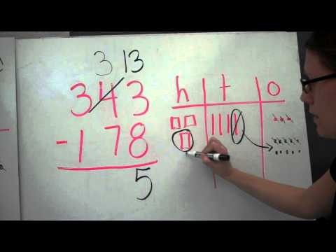 Subtraction with regrouping 3 digit