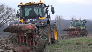 JCB FASTRAC AND FENDT 724 TEAM UP PLOUGHING!