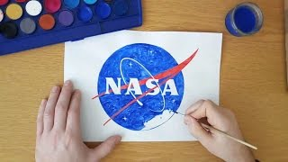 How to draw the NASA logo