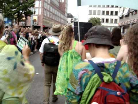Inside Pride Parade Stockholm 2011 Green Party Miljöpartiet Öppen för förslag