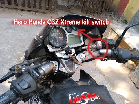 Power Kill Switch Installation in Hero Honda CBZ Xtreme by