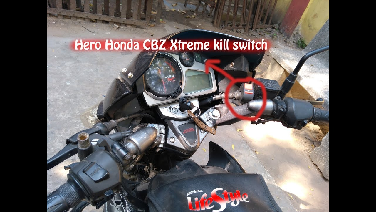 Power Kill Switch Installation in Hero Honda CBZ Xtreme