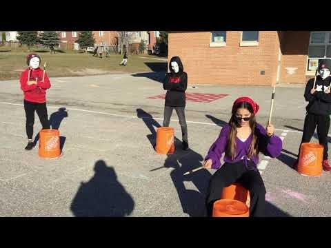 Grade Six Bucket Drumming Fieldcrest Elementary School