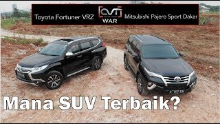 CVT WAR: Toyota Fortuner VRZ Vs Mitsubishi Pajero Sport Dakar | Mana SUV Terbaik? |