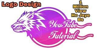 المهنية تصميم شعار البرنامج التعليمي | كيفية جعل الشعار في PicsArt | Parveen Jalehra