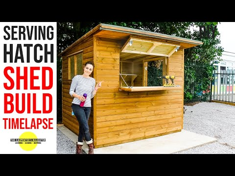 Download How to Build a Shed With Serving Hatch in 7 minutes (8x7)   The Carpenter's Daughter