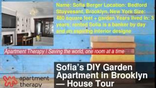 Sofia's Diy Garden Apartment In Brooklyn — House Tour