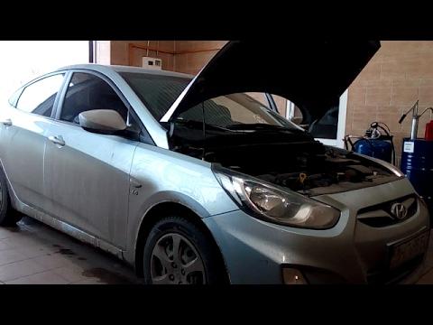 Замена масла. Hyundai Accent 1.6 2012 года