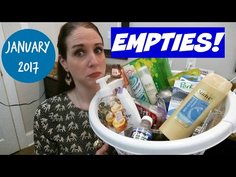 EMPTIES~JANUARY 2017 PRODUCT REVIEWS