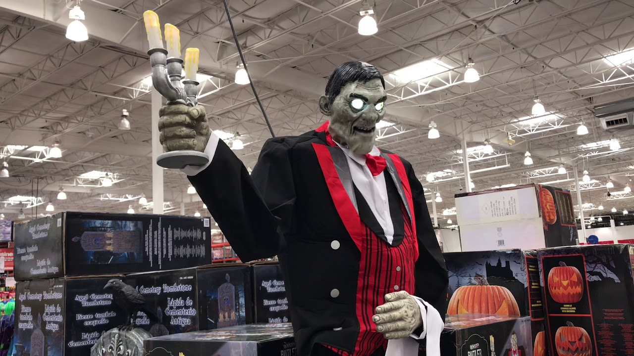 Costco Halloween Decorations Animated Butler Cemetery Tombstone Lighted Pumpkin