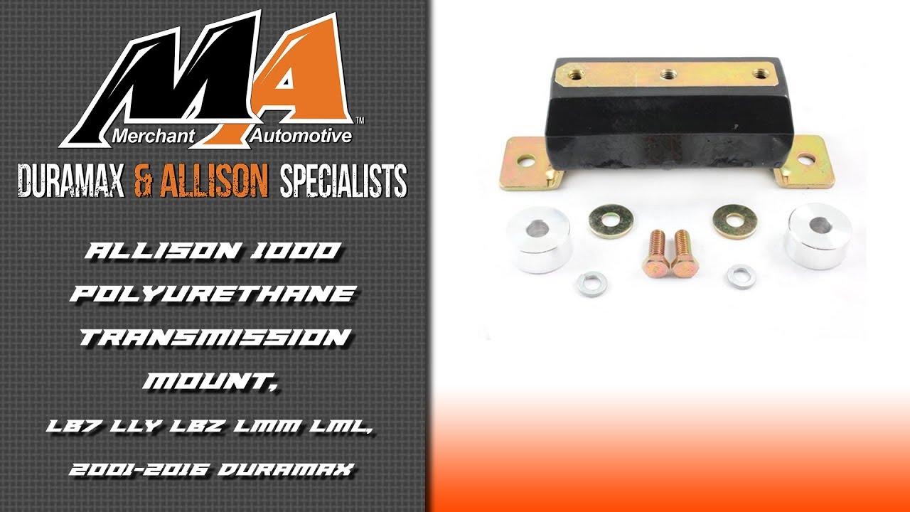 Allison Transmission Mount Duramax 1000 Wiring Diagram Product Spotlight Polyurethane Rh Youtube Com Mt 654 Manual