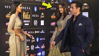 Katrina Kaif feel Angry on seeing Salman Khan and Sai Manjrekar together at IIfa Award 2019