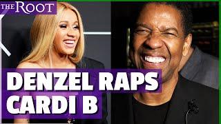 Denzel Washington Raps Cardi B