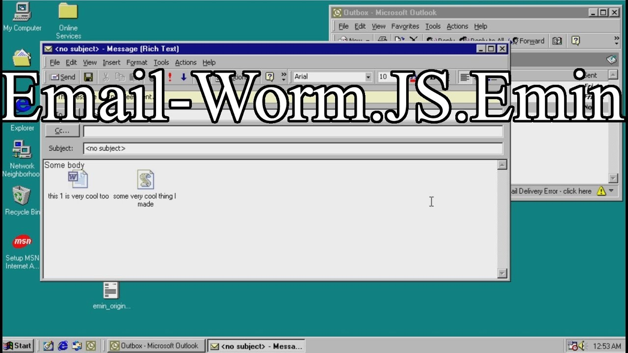 Email-Worm.JS.Emin - YouTube