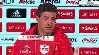 """""""Jonas não está convocado!""""    Rui Vitória (SL Benfica vs CD Tondela)"""