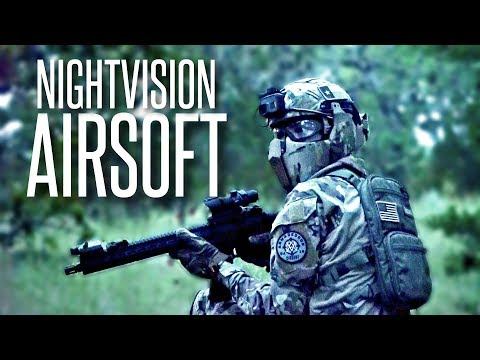 HUNTING AIRSOFTERS WITH NIGHTVISION - Airsoft Night Ops Gameplay