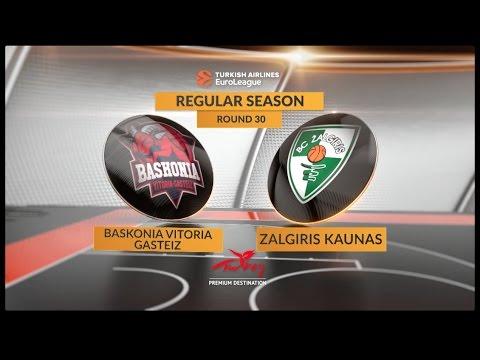 Highlights: Baskonia Vitoria Gasteiz-Zalgiris Kaunas