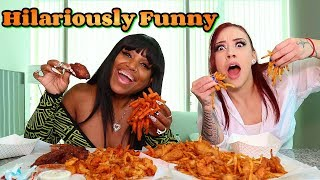 Fried Seafood with Salice Rose (hilarious)
