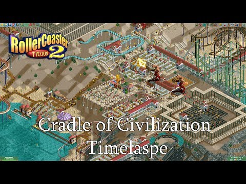 RollerCoaster Tycoon 2: Cradle of Civilization (Mythological Madness) Timelapse  