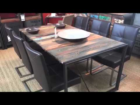 design industriel - mobilier contemporain bois métal - youtube - Meuble Design Metal